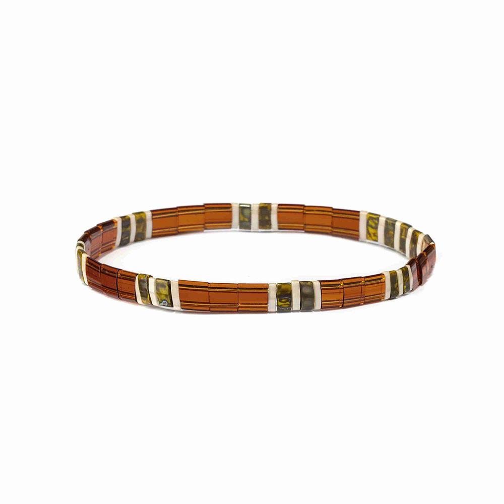 Hot Seller Innovative Rainbow Miyuki Two Holes Tila Beads Bracelet For Beach Party