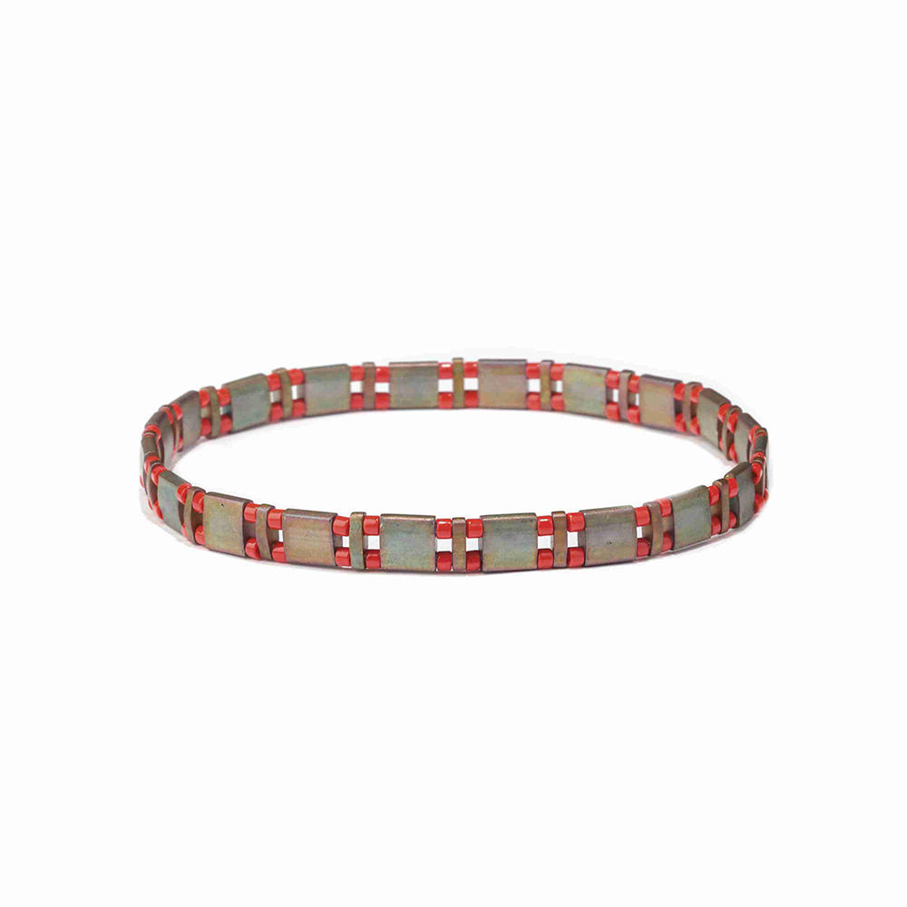 Best Selling High Quality Colorful Adjustable Handmade Woven Tila Bead Bracelet