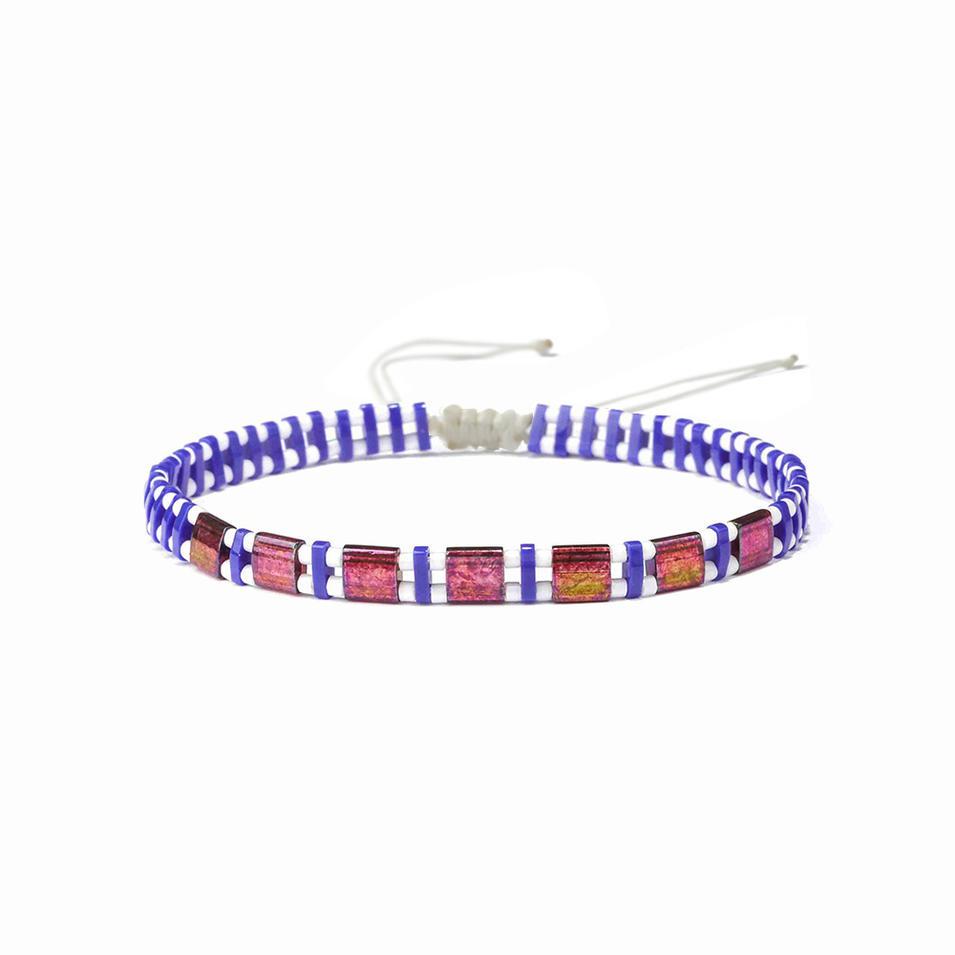 Beautiful Bulk Friendship Custom Handmade Woven Knot Cotton Bead Adjustable Rope Single Wrap Bracelet