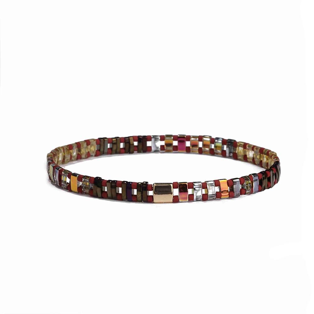 TTT Jewelry Latest Design Women Handmade Elastic Stretch Miyuki Tila Bead Bracelet