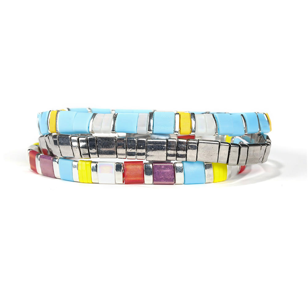 Fashion colorful 3/4PCS Handmade Miyuki Tila Bracelet For wholesale and retail