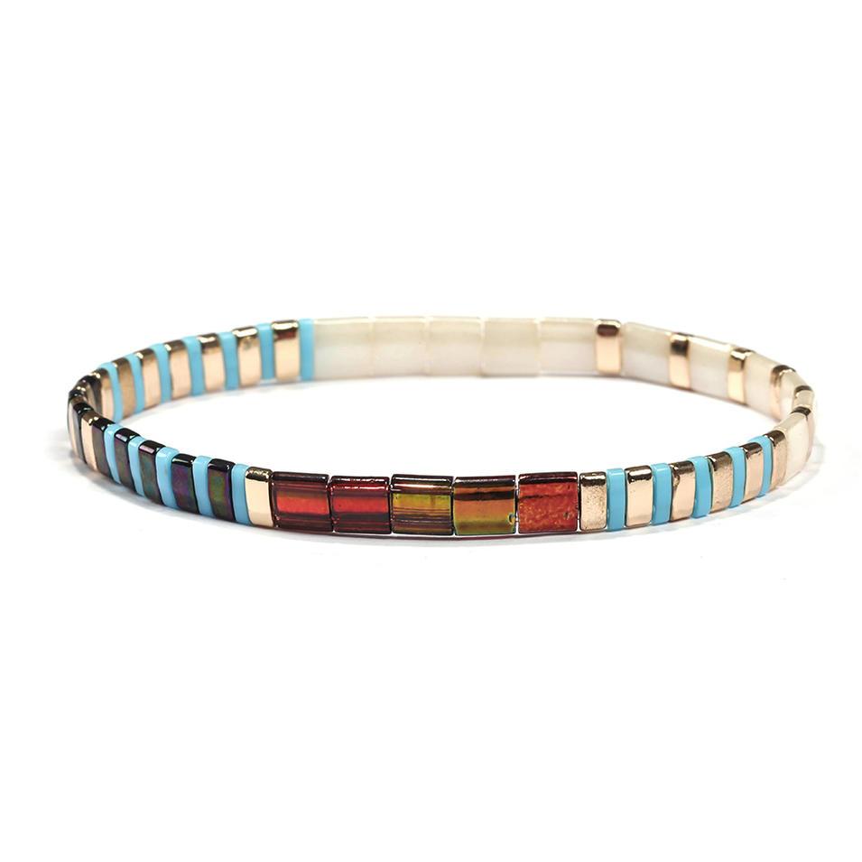 Handmade Colorful Tila Beach Bracelet  Wholesale Accessories Women Bracelet Jewelry