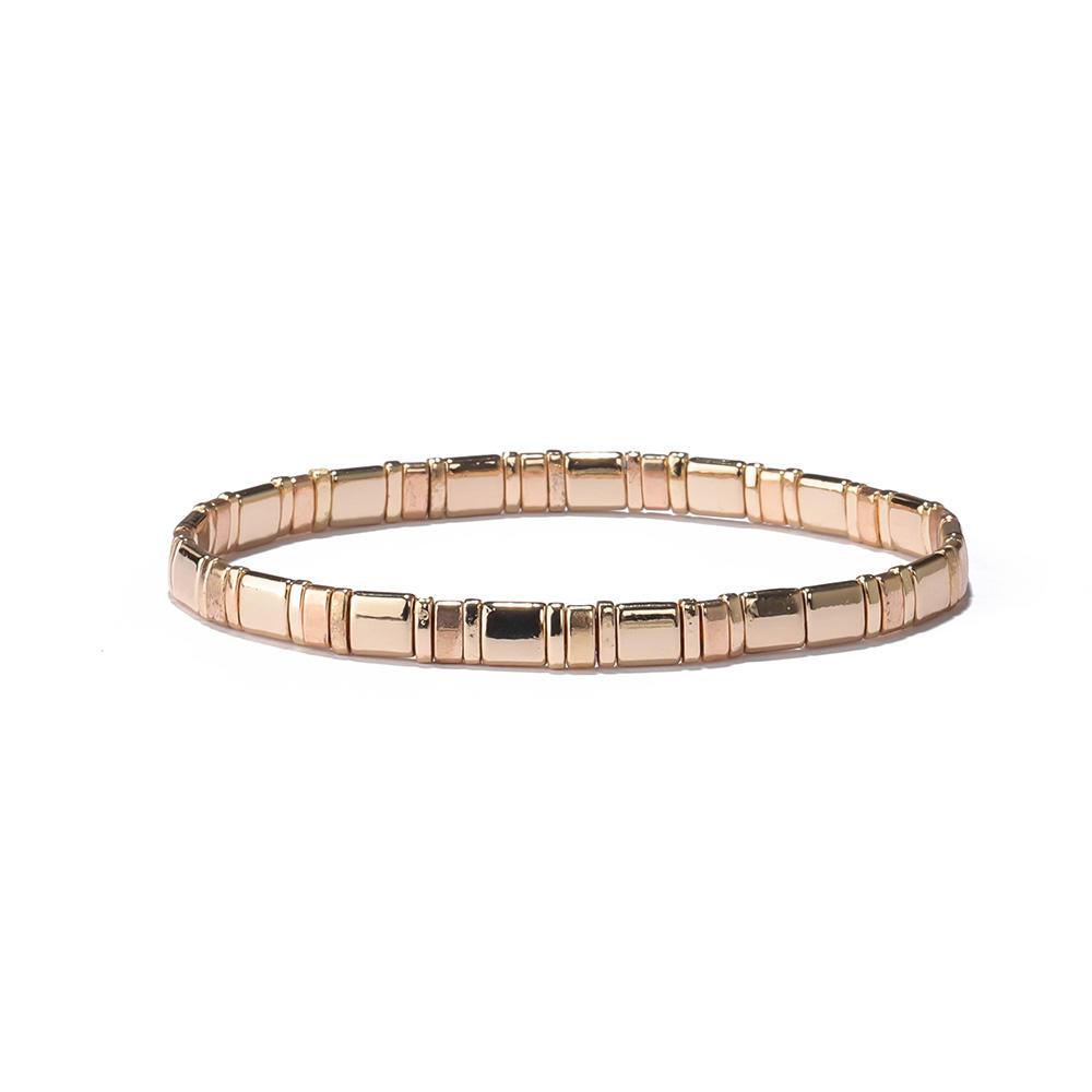 Handmade Fashion Design Gold/Silver Color Tila Bead Bracelet