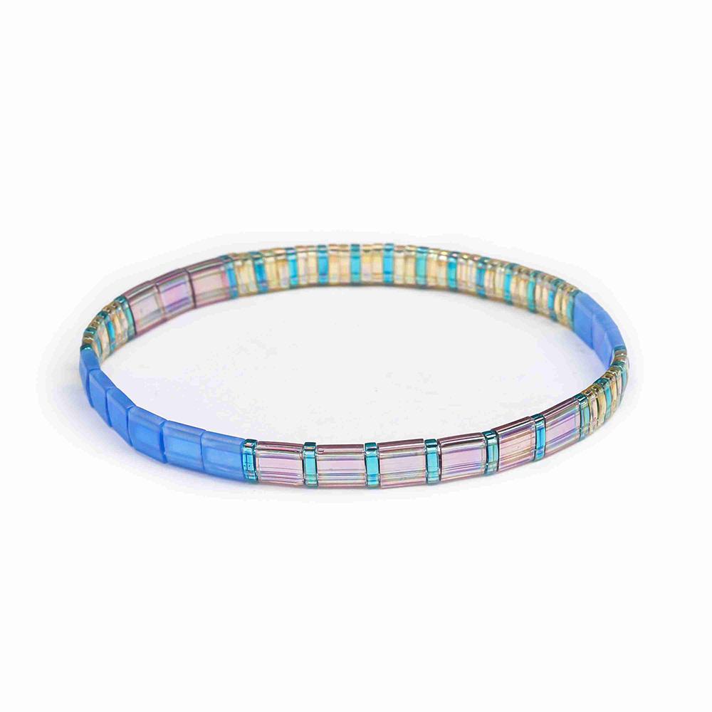 Popular Fashion Wholesale Light Color Handmade Tila Bead Bracelet Women Jewelry