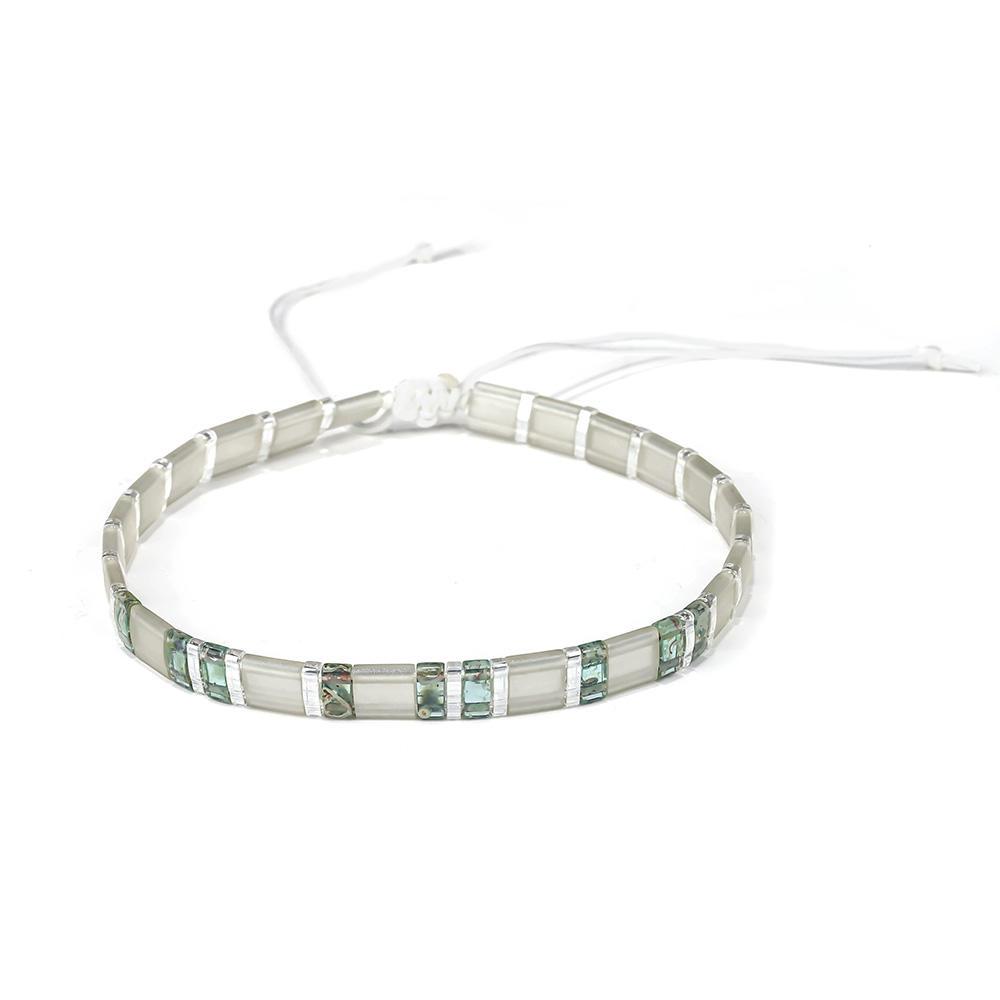 Hot selling Wholesale Woven Knot Cotton Tila Bead Bracelet Women Jewelry