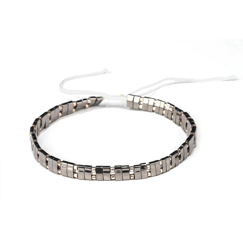 Beatiful Women Jewelry Friendshiop Wholesale Woven Knot Cotton Tila Bead Bracelet