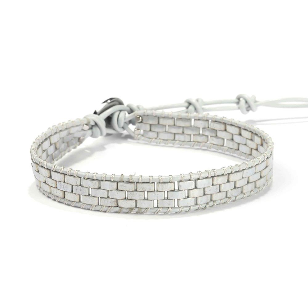 Fashion Friendship Wholesale Tila Beads Crystal Adjustable Handmade Women Leather Beaded Wrap Bracelets Women Jewelry