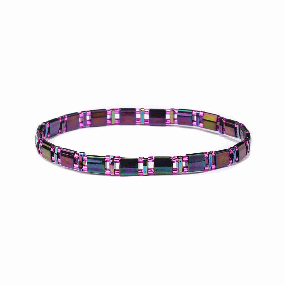 Hot Selling Friendship 2019 Trendy Colorful Tila Bead Bracelet Women Jewelry