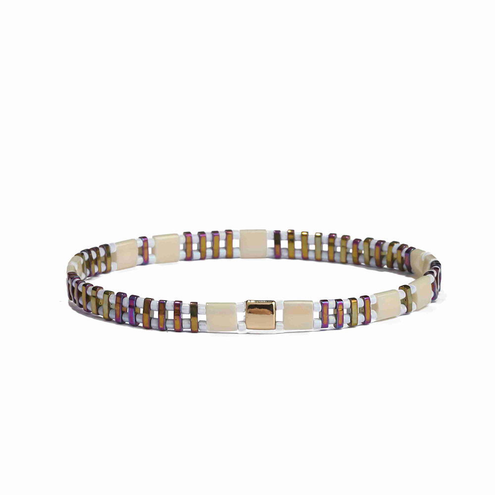 Wholesale Fashion Dark Colour Tila Bead Bracelet Women Jewelry