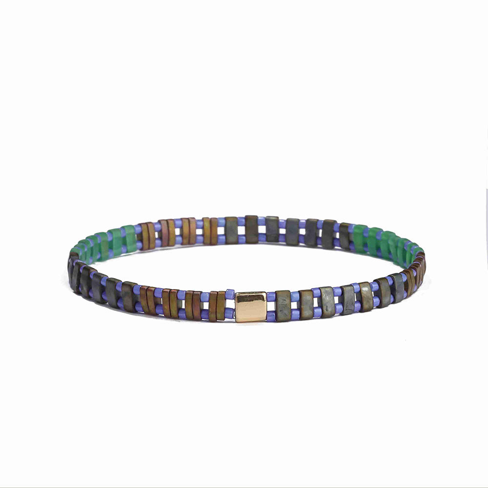 Wholesale Fashion Dark Colour Tila Bead Bracelet Women Jewelry