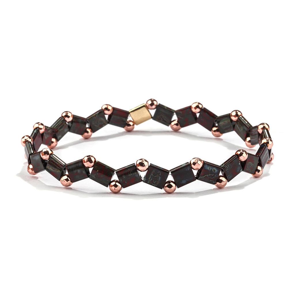 TTT Jewelry 2019 Latest design Trendy Wavy Multi-beads Tila Bead Bracelet