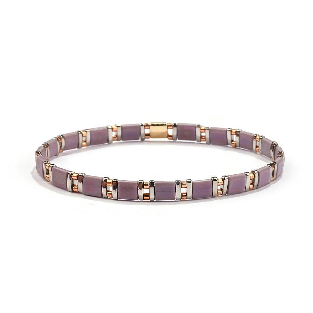 New Fashion Pouple Colorful Wholesale Tila bead Bracelet Women Jewelry