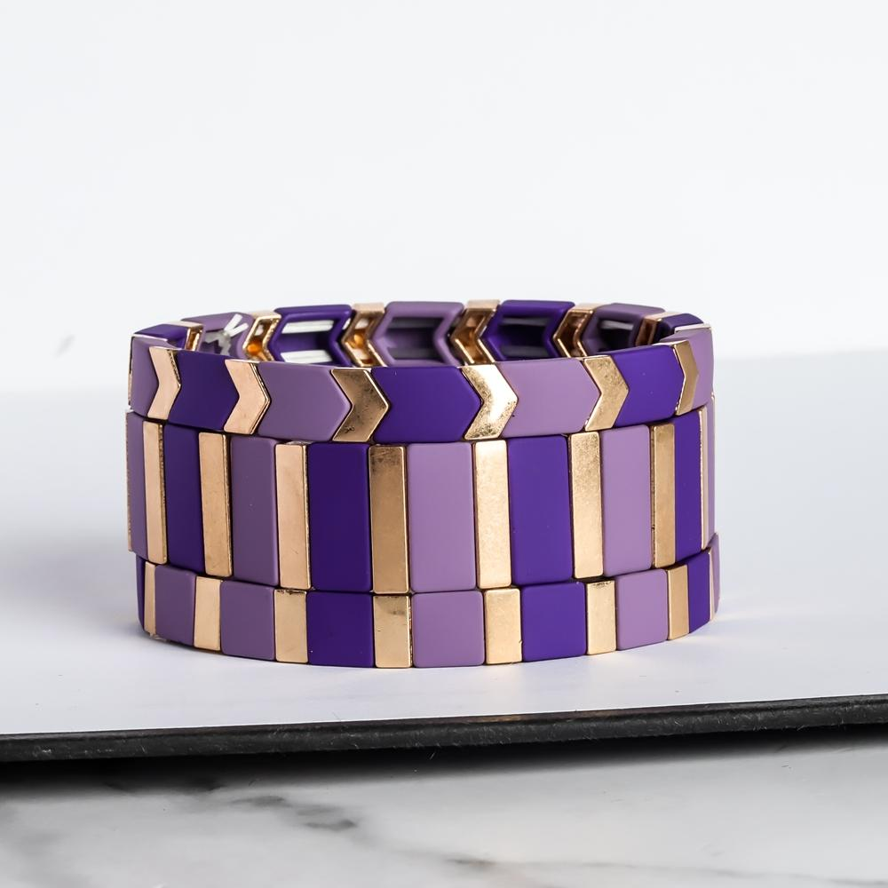 Friendship Graceful Purple Colour Wholesale Enamel Bracelet Fashion Handmade Jewelry