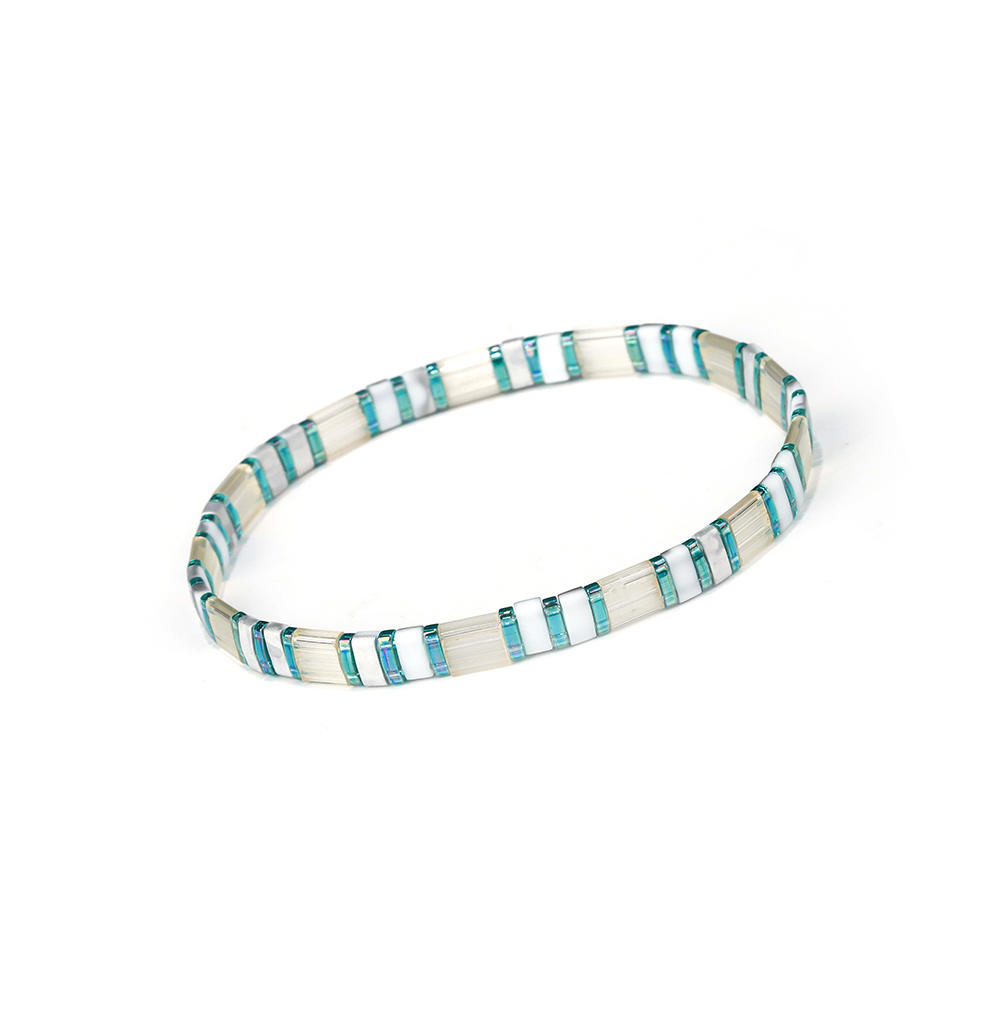Fresh Frednship Magic Blue Gray Color Wholesale Handmade Tila Bracelet Jewelry