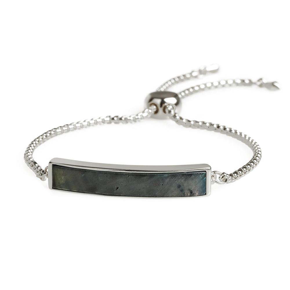 Vogue Top Quality Gold Plating Natural Labradorite Silder Hand Chain Bracelet Women Jewelry