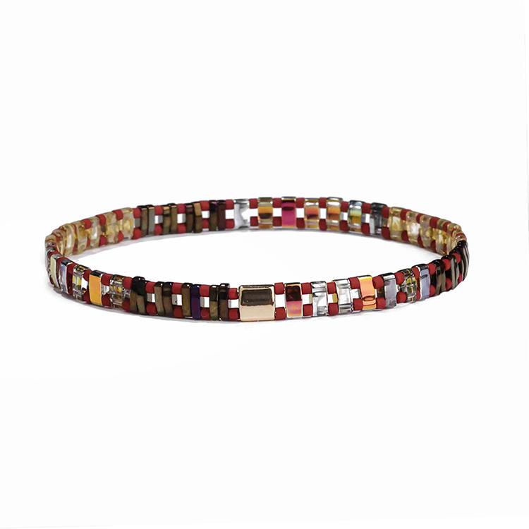Hot Wholesale Women Jewelry Handmade Colorful Dazzle Tila Bead Bracelet