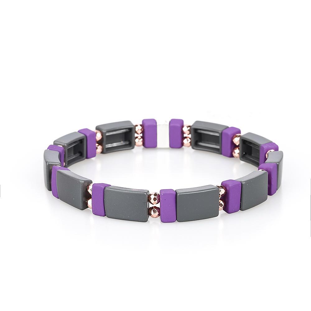 Wholesale Handmade 3Pcs New Design Hematite Enamel Bracelet Women Jewelry