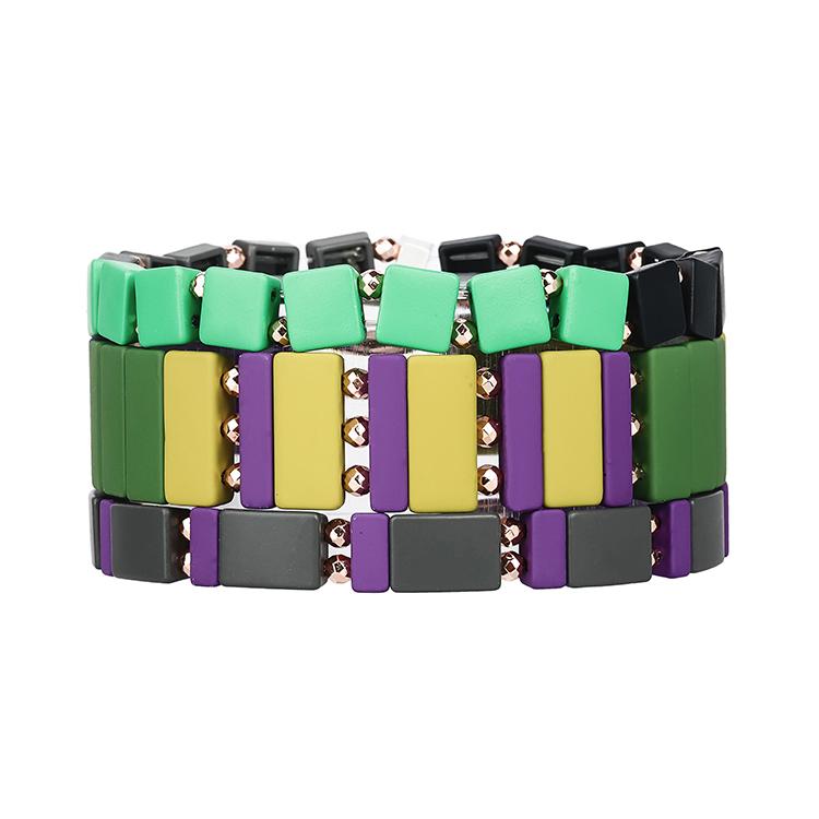 3pcs hematite tile bracelet women jewelry