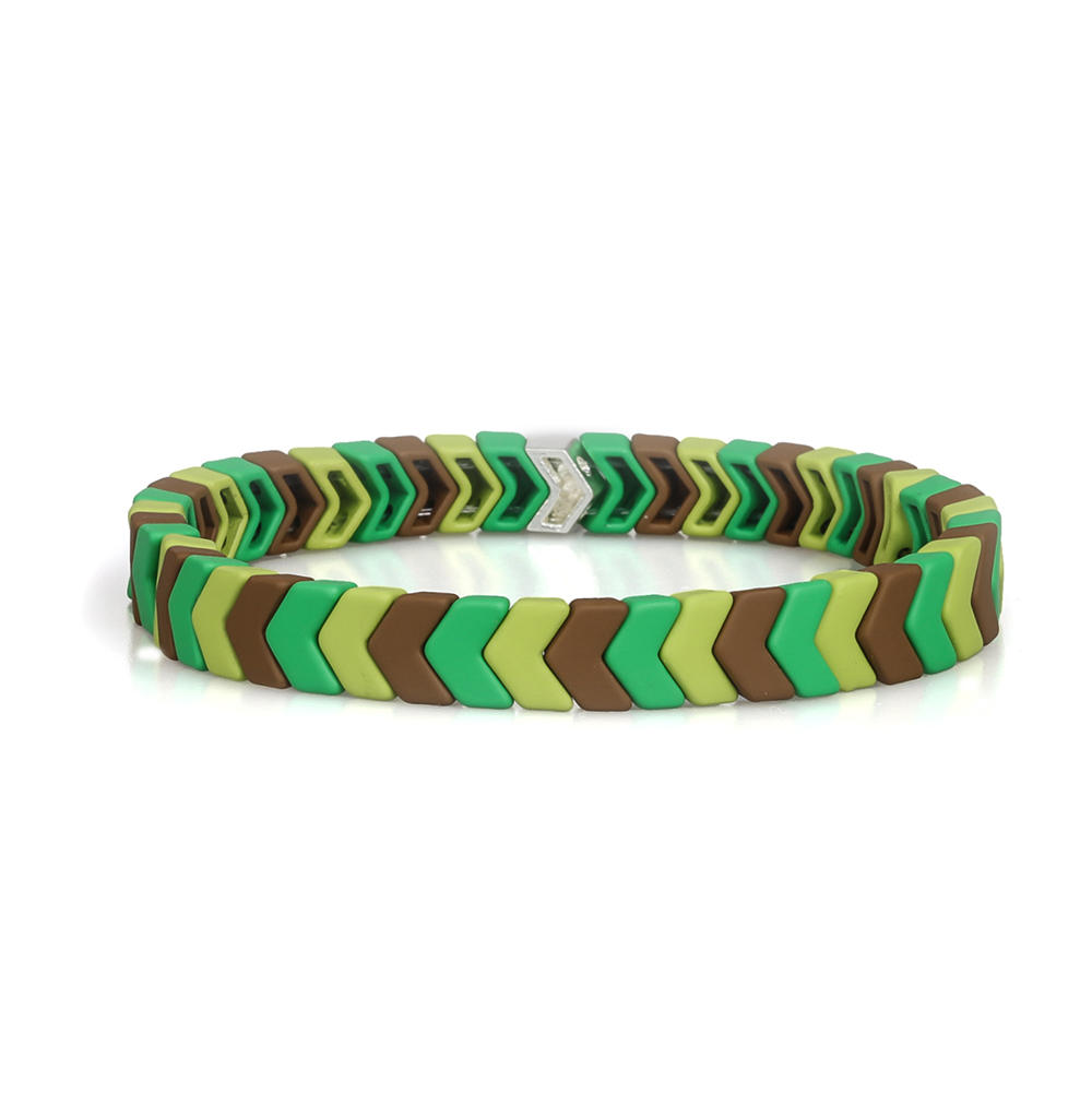 Wholesale Handmade Latest Design Camouflage Color Matte Enamel Bracelet Women Jewelry