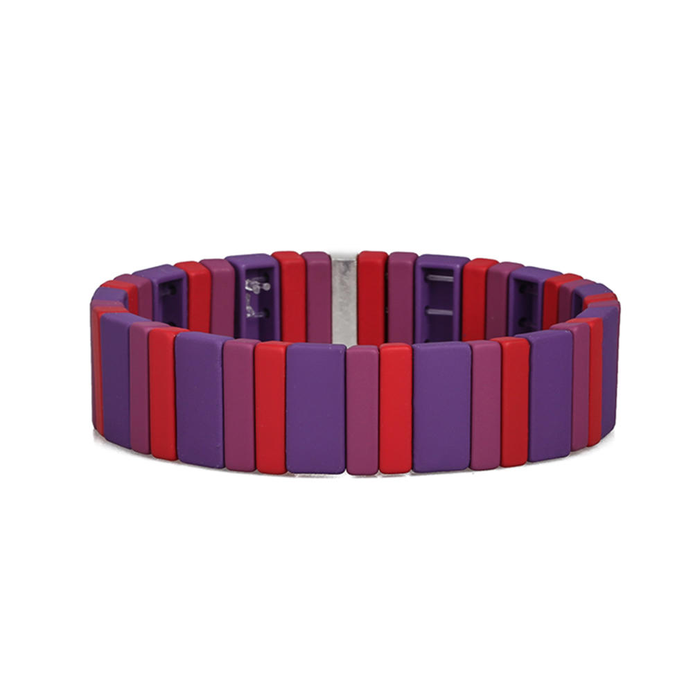 Friendship Beautiful 3Pcs Blue- purple Red  And Deep Red Handmade Wholesale Enamel Bracelet