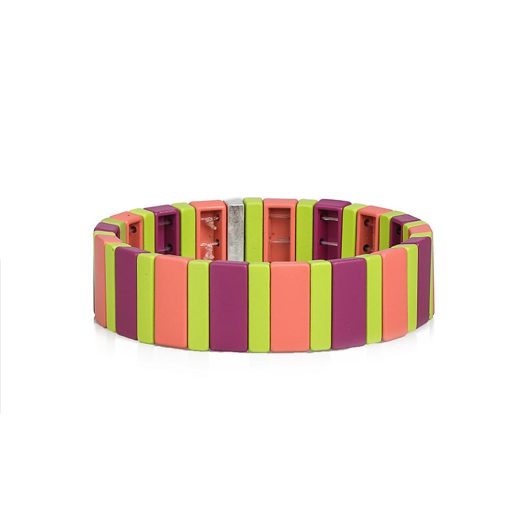 High Quality New Fashion Colorful Wholesale Handmade Enamel Bracelet Women Jewelry