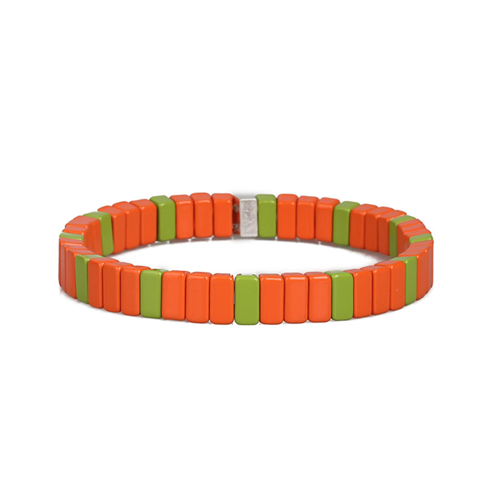 Top Quality Wholesale Handmade Colorful Rainbow Smoothly Enamel Bracelet Women Jewelry