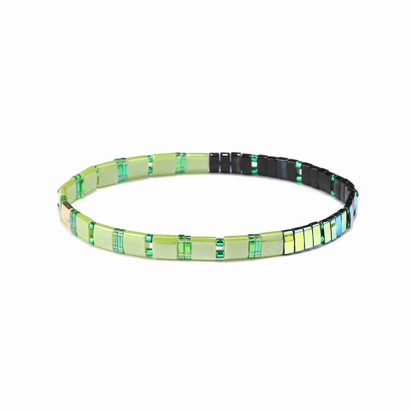 Vogue Fresh Handmade Grass Color Tila Dazzle Blue Wholesale Bracelet Women Jewelry