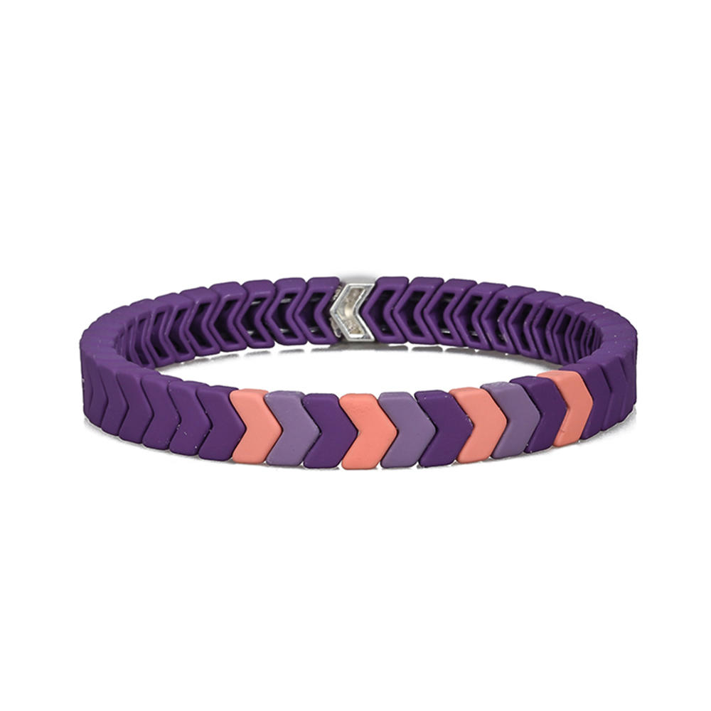 3Pcs Hot Selling Handmade Purple Violet Matte Enamel Bracelet Wholesale Women Jewelry