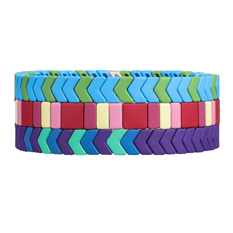 3pc matte Handmade Jewelry wholesale tile bracelet