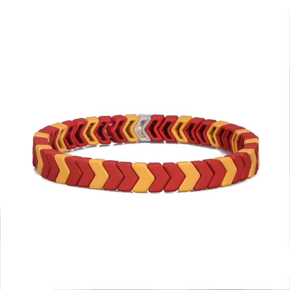 Personalized Stylish 3Pcs Five Colors Mixed Handmade Wholesale Women Jewelry Matte Enamel Bracelet