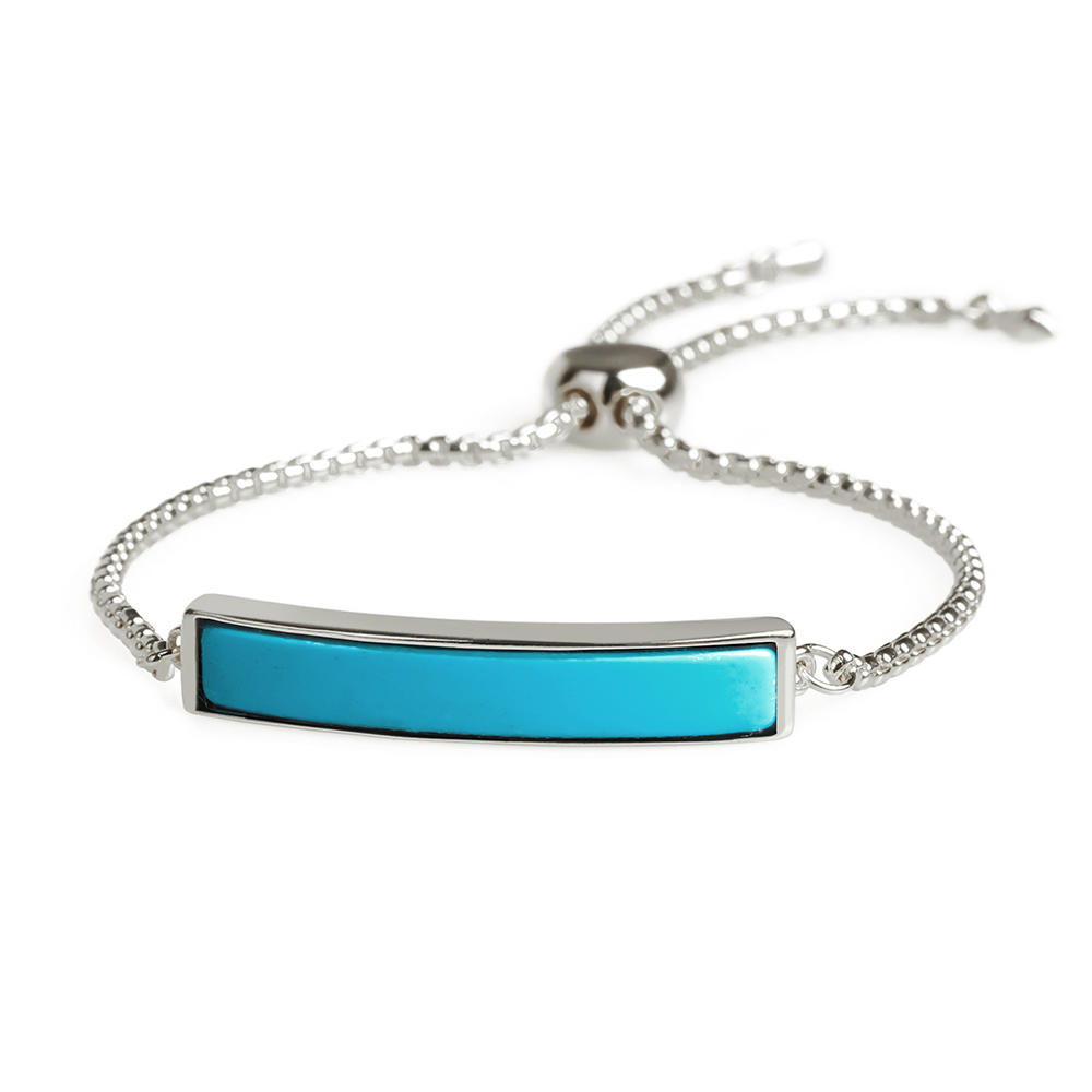 Turquoise Gold Plating Copper Sliding Bracelet Wholesale Women Jewelry Hand Chain