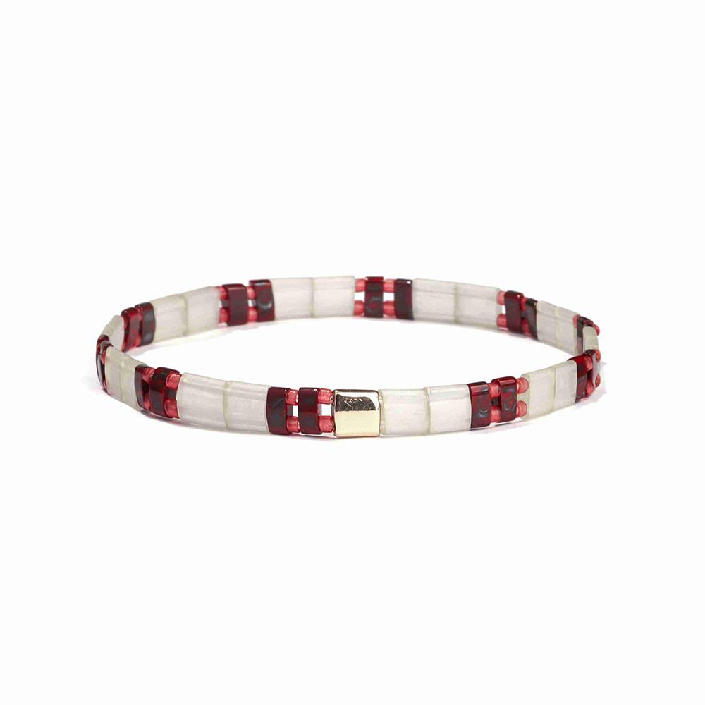 OEM ODM Manufacturer Handmade Lady Jewelry Translucent Red Color Miyuki Bead Bracelet