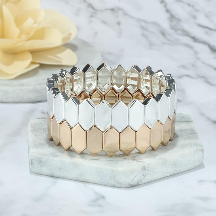 2020 Newest design simple fashion style tile enamel bracelet women jewelry