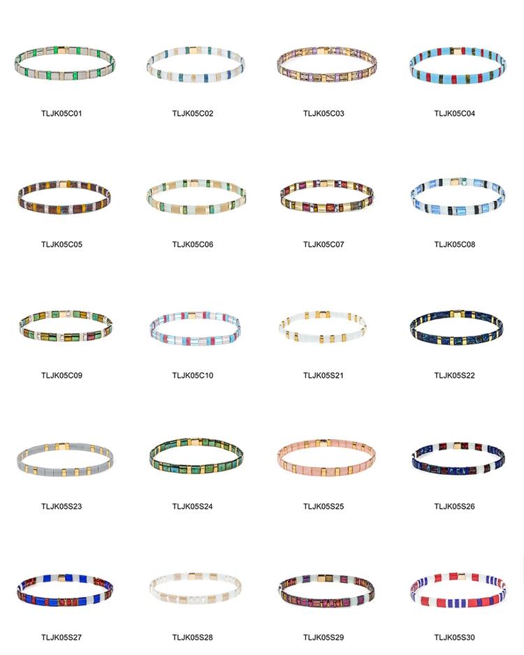 Handmade Elastic series tila bracelet women jewelry