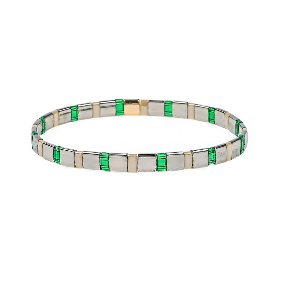 Friendship Handmade women jewelry Elastic series Tila beads wholesale ladies bracelet