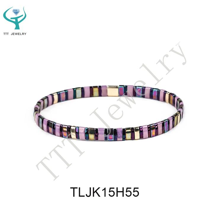 Elastic Style Popular Tila Beads Handmade Women Bracelet Wholesale Jewelry