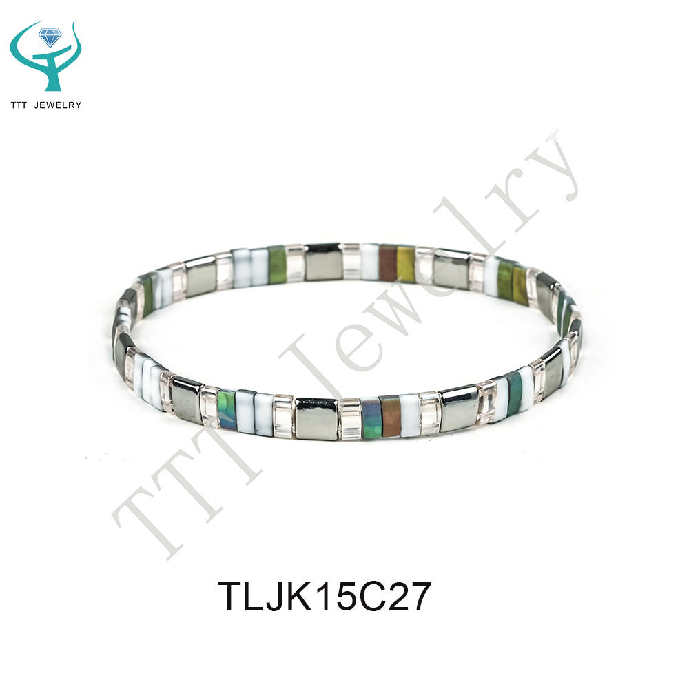 TTT Jewelry new fashion handmade colorful tila beads bracelet wholesale women jewelry