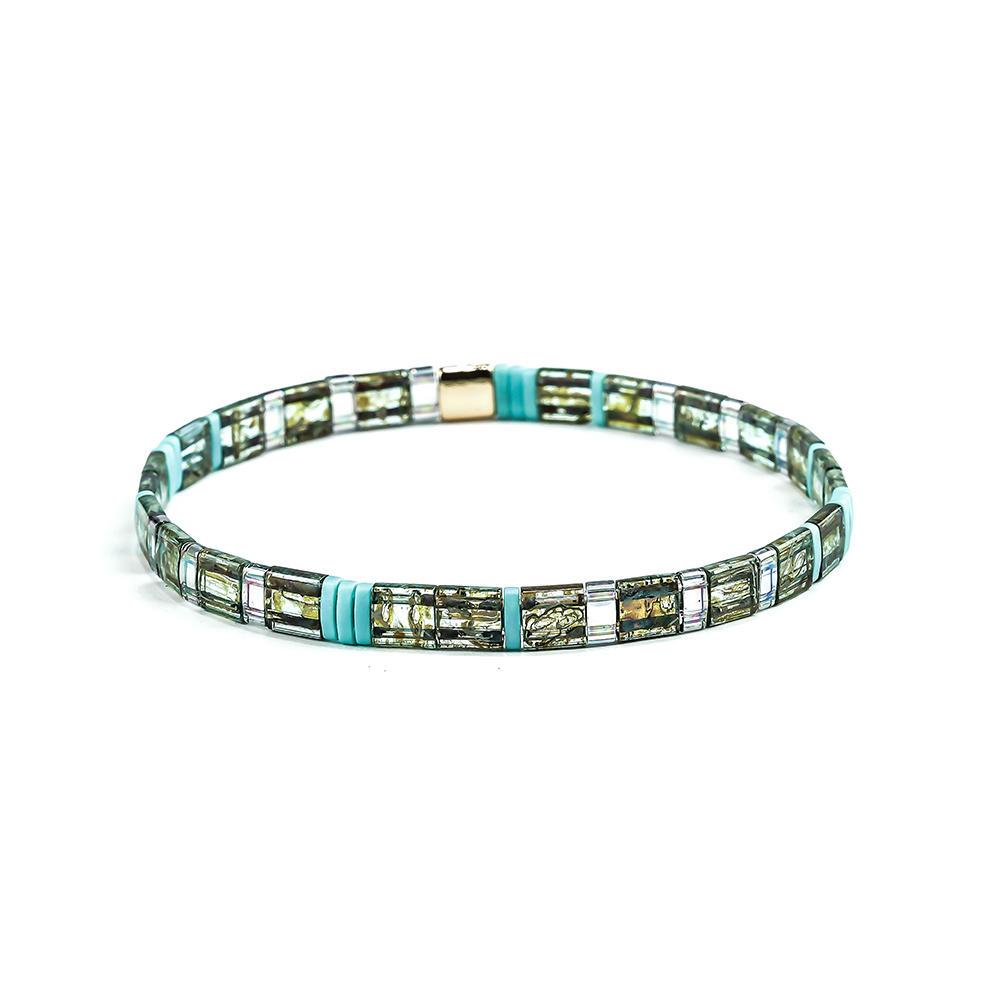 Colorful light color Tila Beads Handmade Women Bracelet Wholesale Jewelry