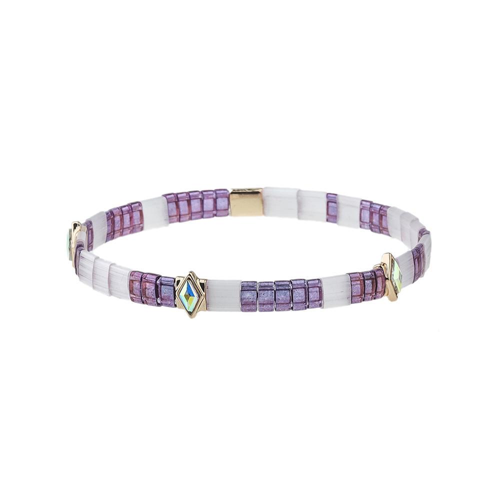 Fashion Colorful Czech Crystal Tila Beads Handmade Jewelry Wholesale Bracelet