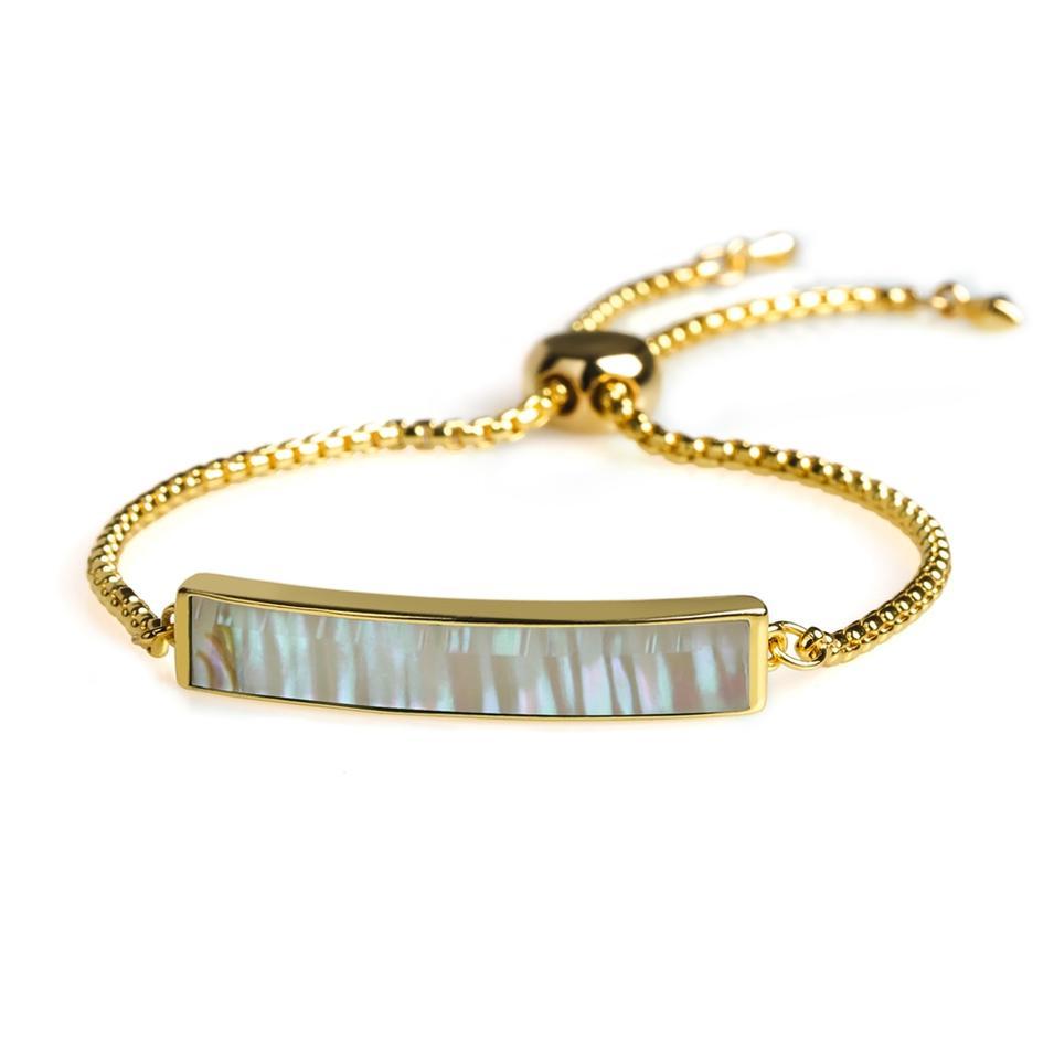 Personalized Fashion Women Jewelry Copper Gold Plating Shell Slider Bracelet
