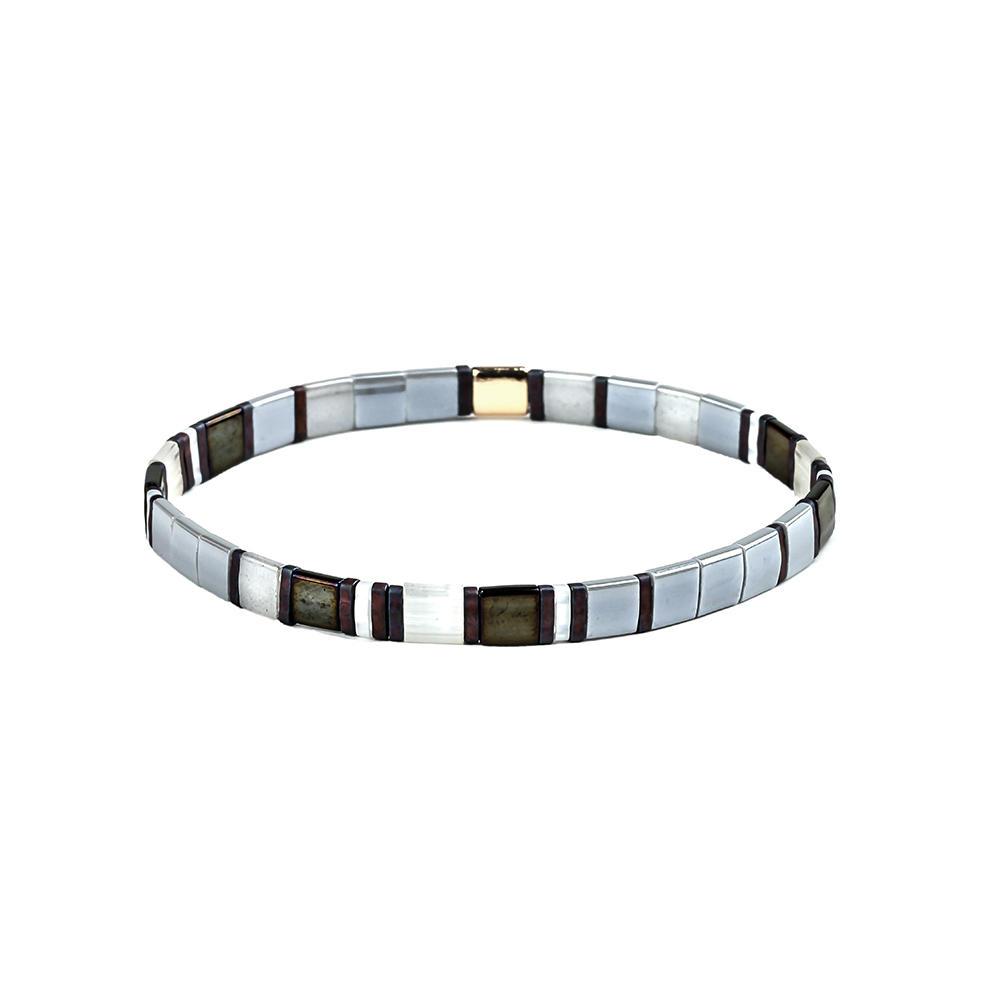Wholesale Women Jewelry Fashion Colorful Elastic Style Tila Beads Handmade Bracelet