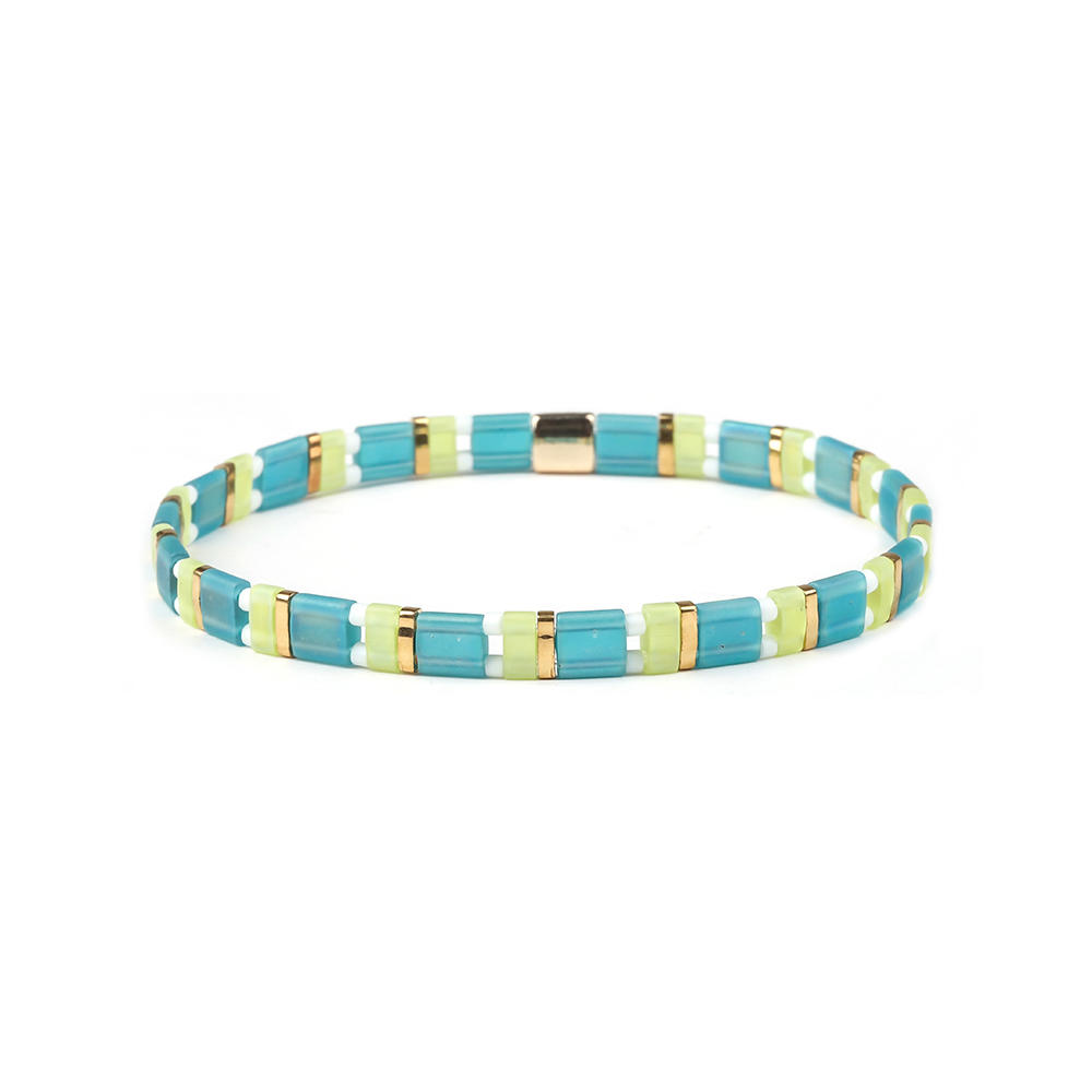 Miyuki Seed Beads Stylish Elastic Style Handmade Tila Bracelet Wholesale Women Jewelry