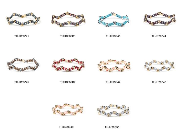 Fashion Customized Hematite Beads Wave Shaped Handmade Tila Bracelet Women Jewelry 1
