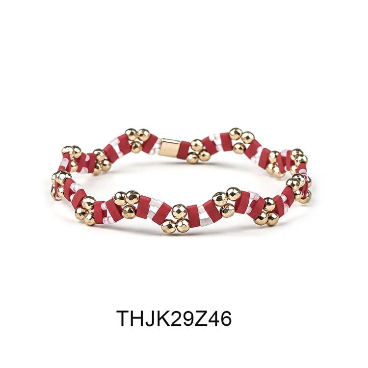 Fashion Customized Hematite Beads Wave Shaped Handmade Tila Bracelet Women Jewelry 7