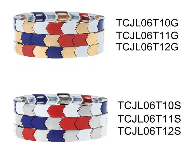 Herringbone Shaped Simple Color Popular Alloy Tile Enamel Wholesale Bracelet Wholsale Jewelry