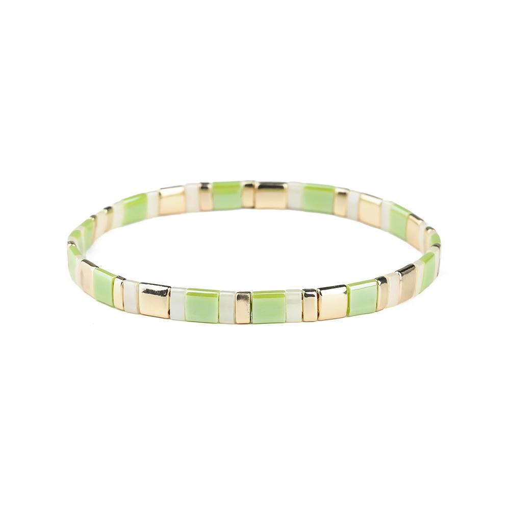 Women Gift High Quality Elastic Style Handmade Tila Beads Bracelet Wholesale Jewelry