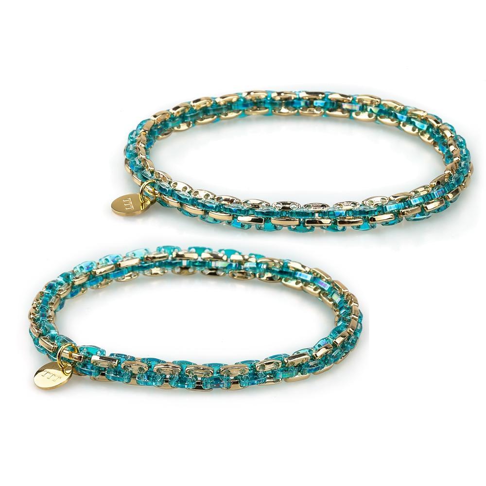 Tennis Style Sweet Couple Handmade Tila Beads Bracelet Wholesale Jewelry