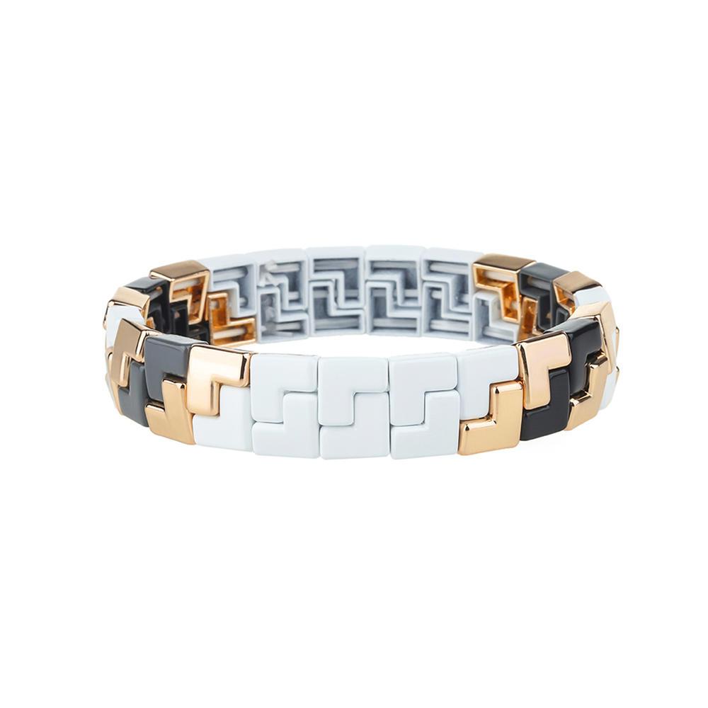 Simple Fashion Uuique L-Shaped Alloy Enamle Bracelet Wholesale Women Jewelry