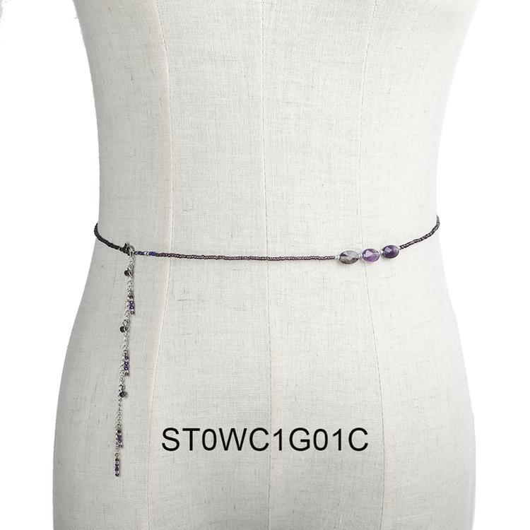 Beautiful Copper Natural Stone Beads Wholesale Women Jewelry Waist Chain