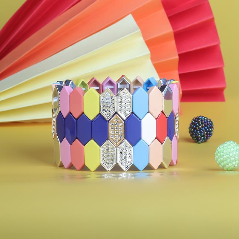 Unique Snake-pattern Shaped Czech Crystal Alloy Enamel Wholesale Women Jewelry